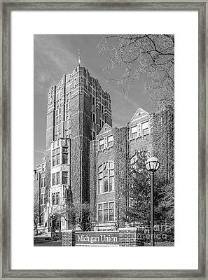 University Of Michigan Union Framed Print