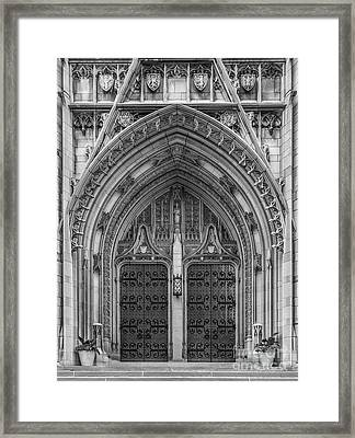 University Of Pittsburgh Heinz Memorial Chapel Framed Print