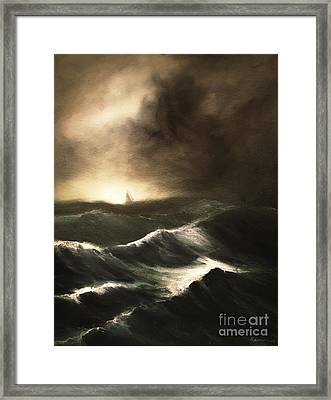 Framed Print featuring the painting Untitled by Stephen Roberson
