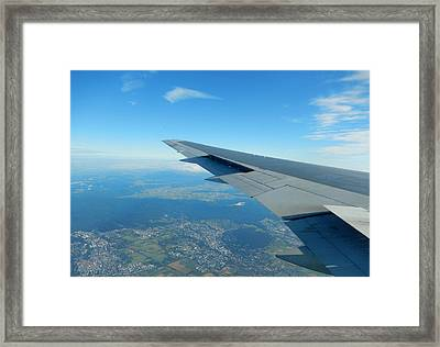 Up Up And Away Framed Print by Betty-Anne McDonald