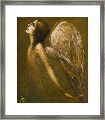 Uriel Guardian Angel Framed Print by Vali Irina Ciobanu