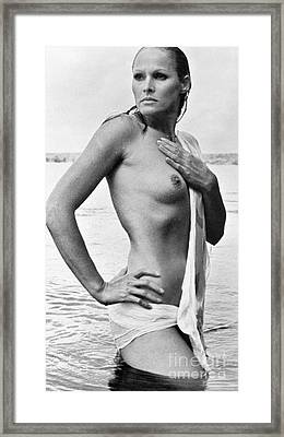 Ursula Andress (b. 1936) Framed Print by Granger