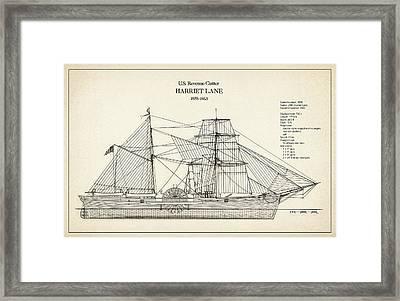 U.s. Coast Guard Revenue Cutter Harriet Lane Framed Print by Jose Elias - Sofia Pereira