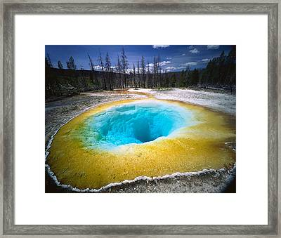 Usa, Wyoming, Yellowstone National Framed Print by Panoramic Images