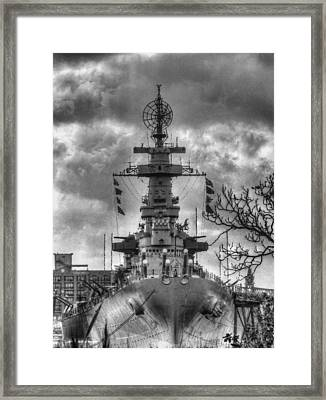 U.s.s. North Carolina Framed Print