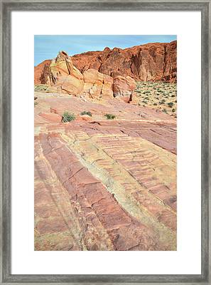 Framed Print featuring the photograph Valley Of Fire Rainbow by Ray Mathis