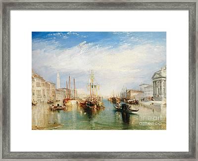 Venice, From The Porch Of Madonna Della Salute Framed Print by Joseph Mallord William Turner