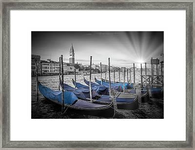 Venice Grand Canal And St Mark's Campanile Framed Print by Melanie Viola