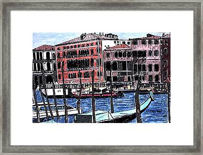 Venice Italy Framed Print by Monica Engeler