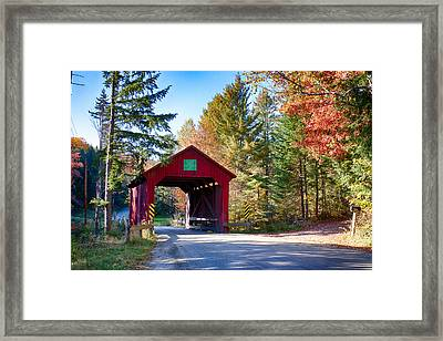 Vermonts Moseley Covered Bridge Framed Print