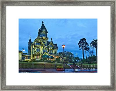 Victorian - The Carson Mansion Is One Of The Most Notable Examples Of Victorian Architecture. Framed Print