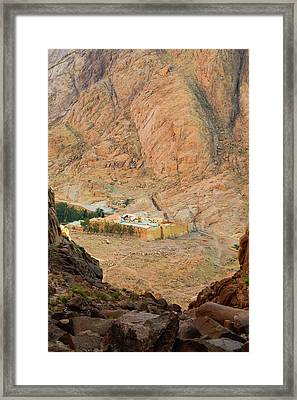 View At St. Catherine's Monastery From Monks Path Framed Print by Khristina Ripak