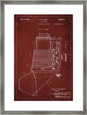 View Camera Patent Year 1930 Framed Print