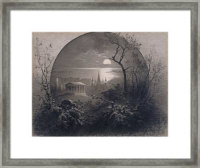 View From Greenwood Cemetery Framed Print