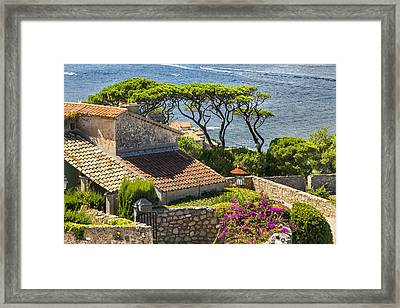 View From The Fortress Of Saint Tropez French Riviera Framed Print by Sandra Rugina