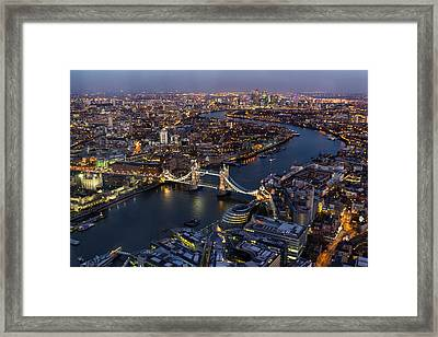 View From The Shard London Framed Print by Ian Hufton