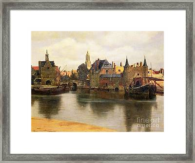 View Of Delft Framed Print by Jan Vermeer