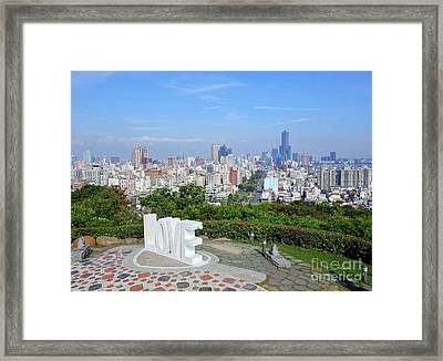 View Of Kaohsiung City Framed Print by Yali Shi