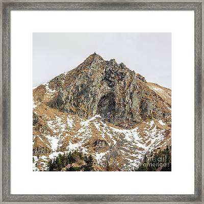 View Of Massif Central Puy De Sancy. Auvergne. France Framed Print by Bernard Jaubert