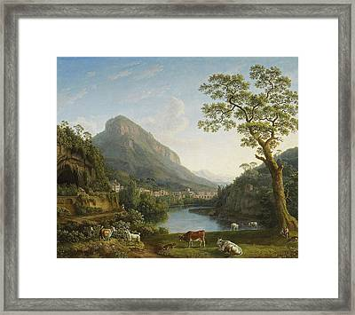 View Of Mulina In The Vally Of La Cava Framed Print by Jacob Philipp