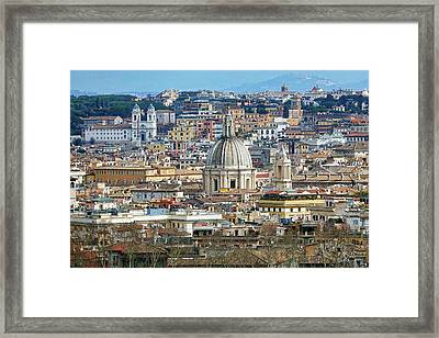 View Of Rome Italy From Atop Gianicolo Hill Framed Print
