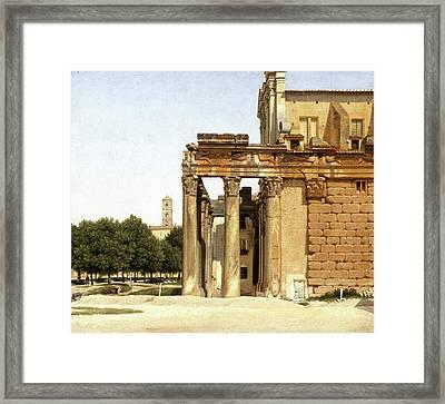 View Of The Via Sacra, Rome Framed Print