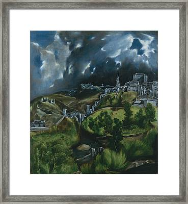 View Of Toledo Framed Print