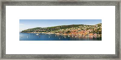 Villefranche-sur-mer And Cap De Nice On French Riviera Framed Print
