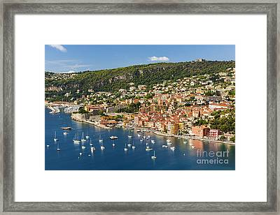 Villefranche-sur-mer View On French Riviera Framed Print by Elena Elisseeva