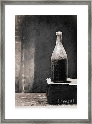 Vintage Beer Bottle Framed Print