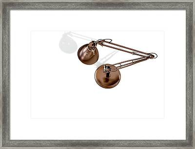 Vintage Copper Desk Lamp Framed Print