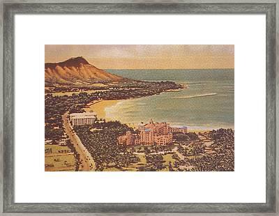 Vintage Hawaiian Art Framed Print by Hawaiian Legacy Archive - Printscapes