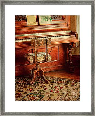 Framed Print featuring the photograph Vintage Piano by Jill Battaglia