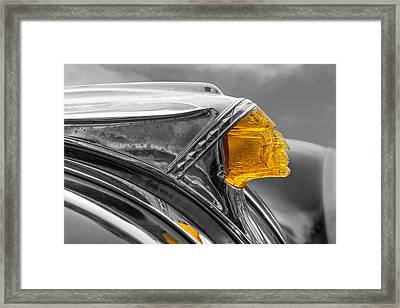 Vintage Pontiac Hood Ornament Framed Print by Jim Hughes