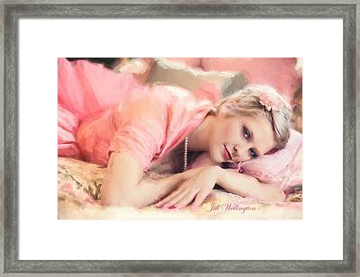 Vintage Val Bedroom Dreams Framed Print