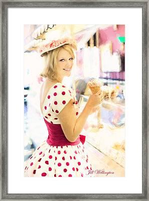 Vintage Val Ice Cream Parlor Framed Print