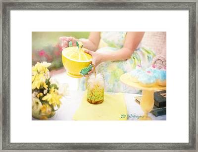 Vintage Val Iced Tea Time Framed Print