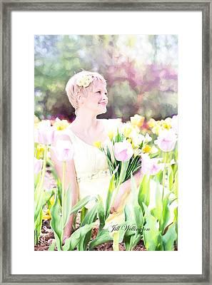 Vintage Val Spring Tulips Framed Print