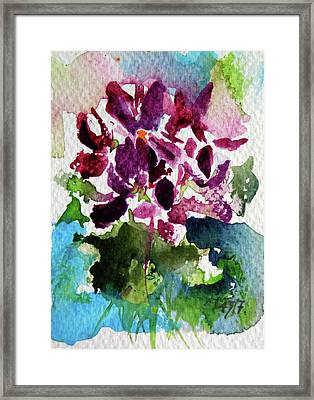 Framed Print featuring the painting Violet by Kovacs Anna Brigitta
