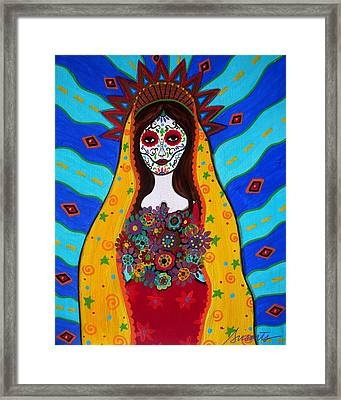 Virgen Guadalupe Framed Print by Pristine Cartera Turkus
