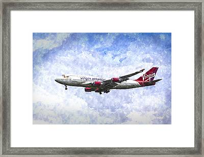 Virgin Atlantic Boeing 747 Art Framed Print