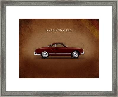 Vw Karmann Ghia Framed Print by Mark Rogan