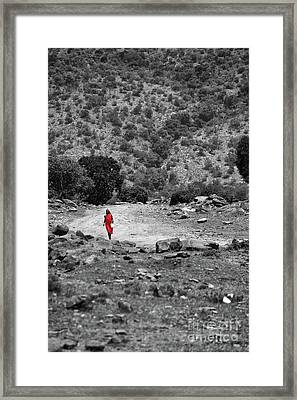 Framed Print featuring the photograph Walk  by Charuhas Images