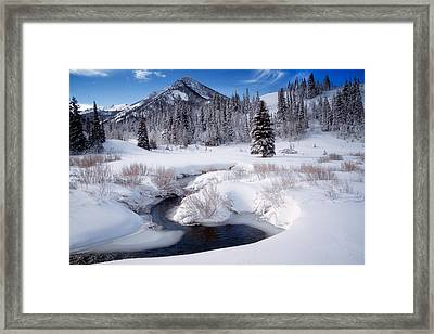 Wasatch Mountains In Winter Framed Print