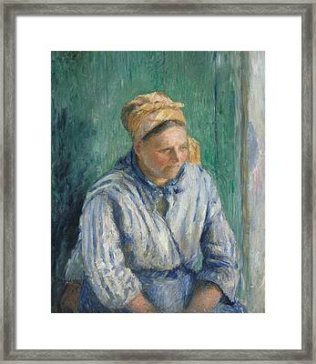 Washerwoman, Study Framed Print by Camille Pissarro