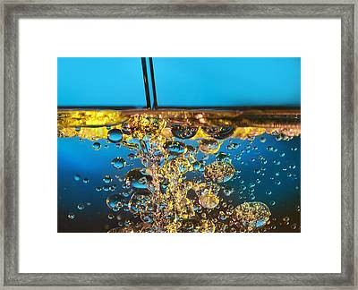 Water And Oil Framed Print