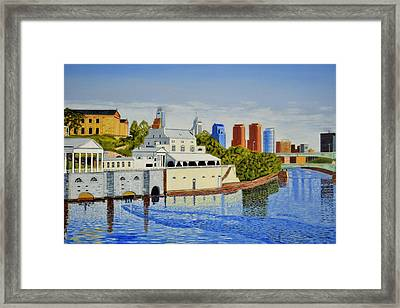 Water Works And Skyline Framed Print