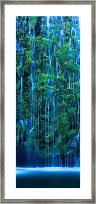 Waterfall In A Forest, Mossbrae Falls Framed Print