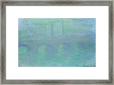 Waterloo Bridge At Dusk Framed Print