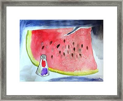 Watermelon Framed Print by Jamie Frier